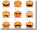ハロウィンの表情色々